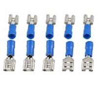 Picture of Lug Insl.2.5mm Blue 6.3mm Female pk100
