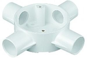 Picture of Pvc Round Box 4 Way 20mm
