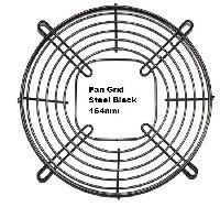Picture of Fan Grid Steel Black 154mm