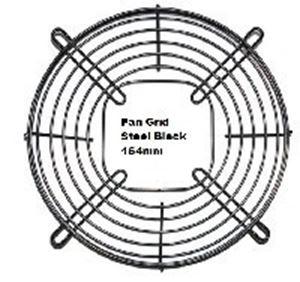 Picture of Fan Grid Steel Black 154mm