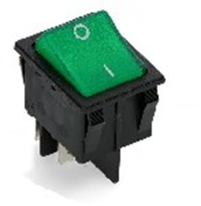 Picture of Switch Rocker Broad Single Green