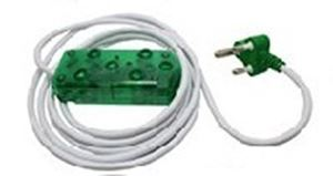 Picture of 3m Extension Cable 10A Side by Side Coupler-Green