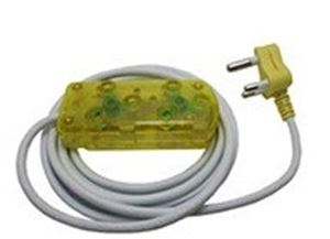 Picture of 5m Extension Cable 10A Side by Side Coupler-Yellow