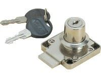 Picture of 19x22mm Drawer Lock Nickel