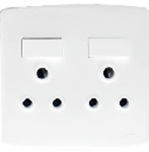 Picture of Trinity 4x4 Double Switch Socket Outlet White