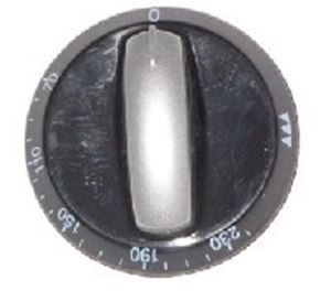 Picture of Knob SO DY Thermostat 0-230 6mm Blk/Silv