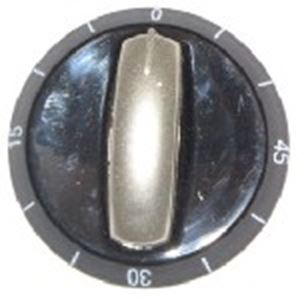Picture of Knob SO DY Timer 6mm Blk/Silv