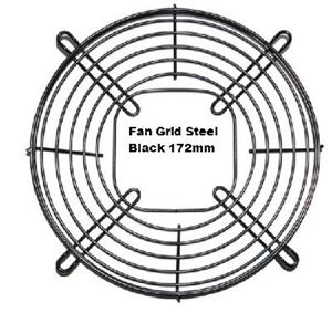Picture of Fan Grid Steel Black 172mm