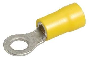 Picture of Lugs Insulated Yellow 4mm Yellow 10mm Ring pk20