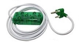 Picture of 5m Extension Cable 10A Side by Side Coupler-Green