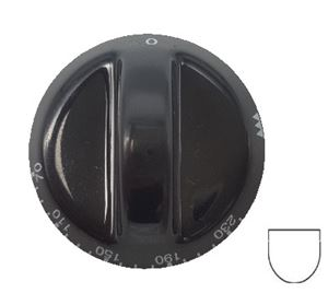 Picture of Knob SO DY T/Stat 0-230 6mm Blk