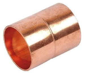"""Picture of Copper Straight Coupling Equal RF 1/2"""" 12.70mm"""