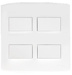 Picture of Trinity 4x4 4 Lever 1 Way Switch White