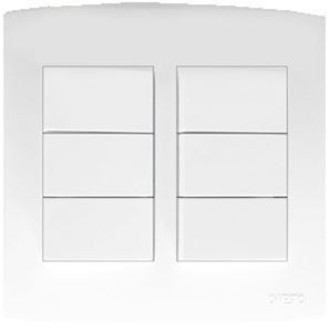 Picture of Trinity 4x4 6 Lever 1 Way Switch White