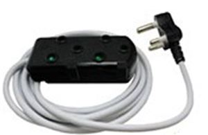 Picture of 3m Extension Cable 10A Side by Side Coupler-Black