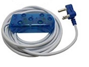 Picture of 3m Extension Cable 10A Side by Side Coupler-Blue
