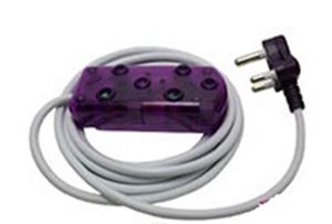 Picture of 3m Extension Cable 10A Side by Side Coupler-Purple