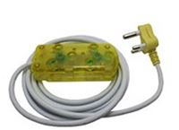 Picture of 3m Extension Cable 10A Side by Side Coupler-Yellow