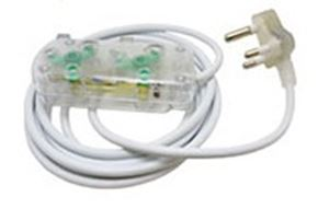 Picture of 5m Extension Cable 10A Side by Side Coupler-Clear