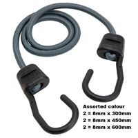 Picture of Bungee Cord Asst Col 6pce Accent
