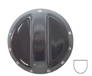 Picture of Knob SO DY Plate 0-8 6mm Blk