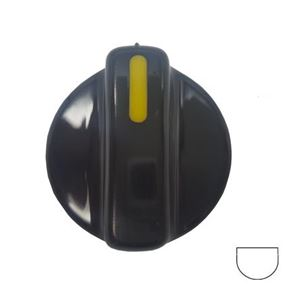 Picture of Knob SO DY Control 8mm Blk/Yell
