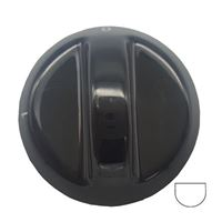 Picture of Knob SO DY Warmer Drawer 6mm Blk