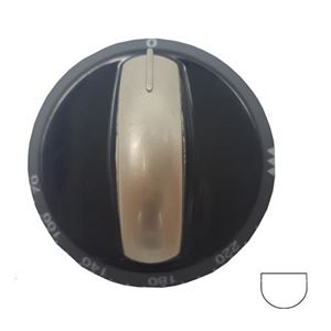 Picture of Knob SO DY Thermostat 0-220 6mm Blk/Silv