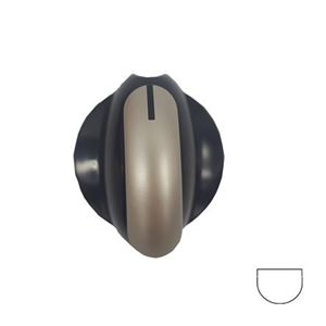 Picture of Knob SO DY Control 6mm Blk/Silv