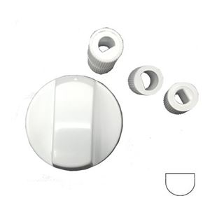 Picture of Knob White Universal 6mm/8mm Long/Short