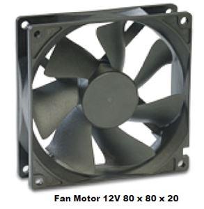 Picture of Fan Motor 80 x 80 x 20 12v