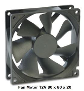 Picture of Fan Motor 80 x 80 x 20 12v  Maglev