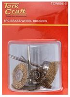 Picture of Wire Brush Mini 5 Pc Brass 3.2mm