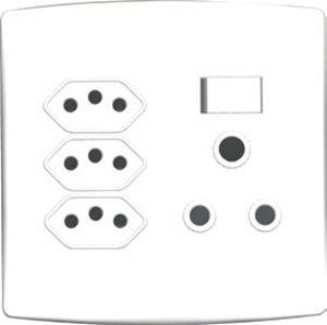 Picture of Trinity 4x4 16A 3Pin Soc+3x3Pin Za Plug Soc White